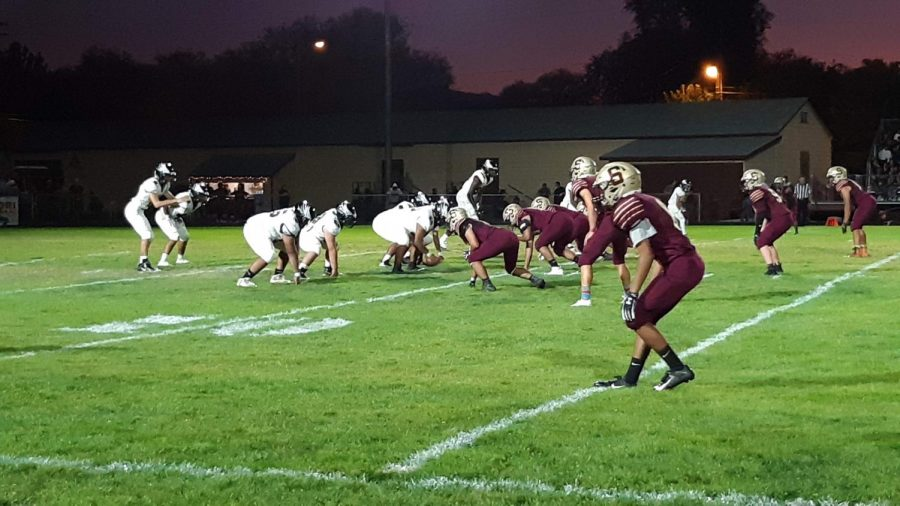 Varsity Football Leaves Sparks Home Field with a 34 - 0 Loss