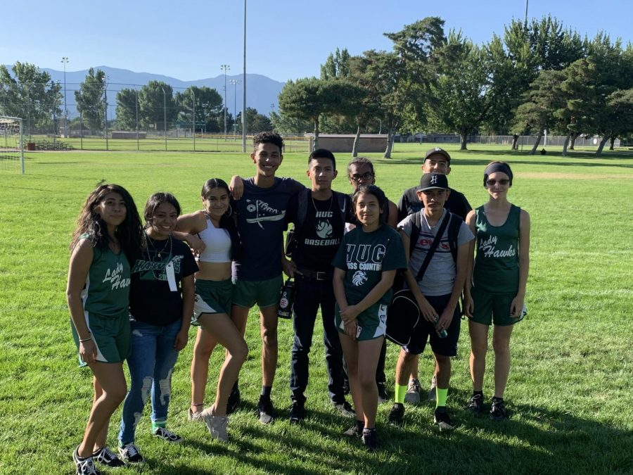 Hug Cross Country team 19-20